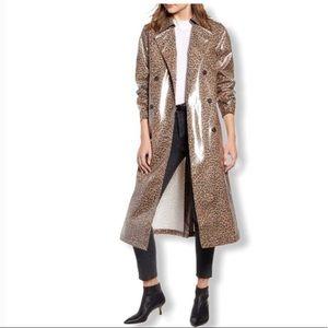 🆕 SOMETHING NAVY Leopard Print Trench Coat